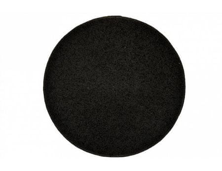 Kusový koberec Elite Shaggy antracit, průměr 120 cm