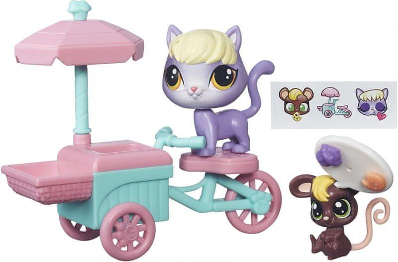 Littlest Pet Shop Zvířátko s kamarádem a vozidlem - Delilah a Trixie