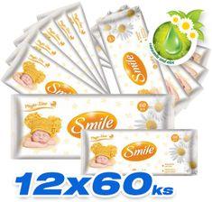 SMILE Baby Vlhčené ubrousky 12x60 ks