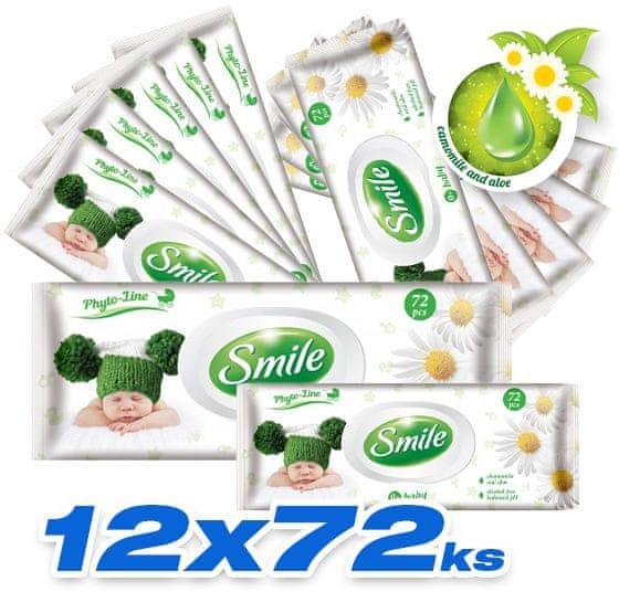 SMILE Baby Vlhčené ubrousky 12x72 ks