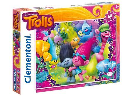 Clementoni sestavljanka Trolls, 60-delna