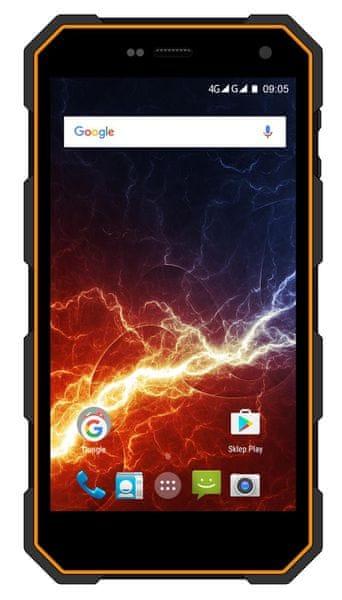 myPhone HAMMER ENERGY, Dual SIM, oranžovo-černý