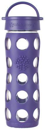 Lifefactory fľaša klasický uzáver  475 ml purple