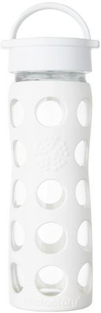 Lifefactory klasična steklenica Optic White, 475 ml, bela