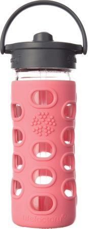 Lifefactory fľaša so slamkou 350 ml coral