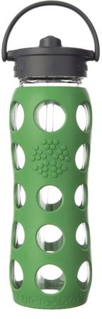 Lifefactory fľaša so slamkou 650 ml zelená