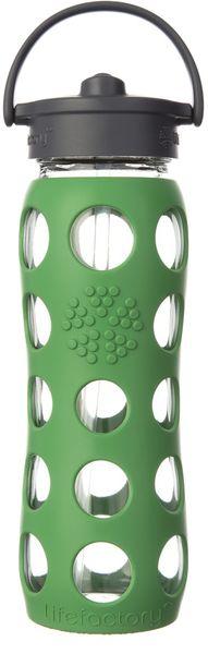 Lifefactory láhev s brčkem 650 ml zelená