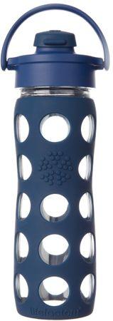 Lifefactory fľaša s flip uzáverom 475 ml midnight blue