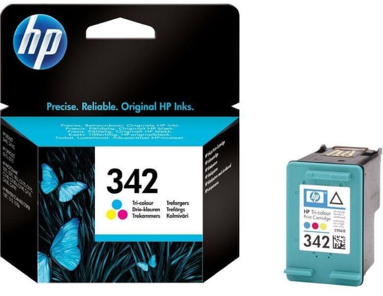 HP č.342 tříbarevná originální inkoustová kazeta (C9361EE)
