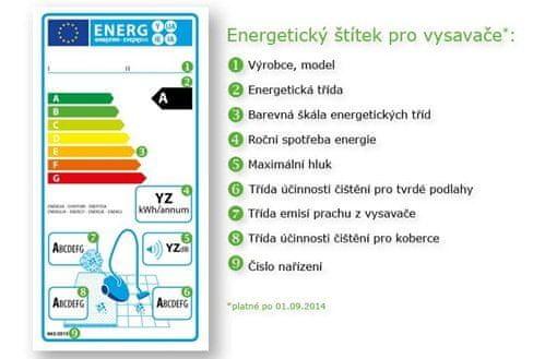 Energetický štítek vysavačů