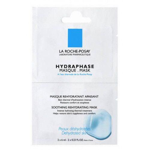 La Roche - Posay Intenzivní hydratační maska pro citlivou suchou pleť Hydraphase (Soothing Rehydrating Mask) 2 x 6 ml