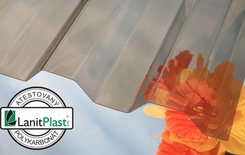 LanitPlast Trapézový polykarbonát Suntuf CS síla 0,8 mm bronz 1,06x2,5 m