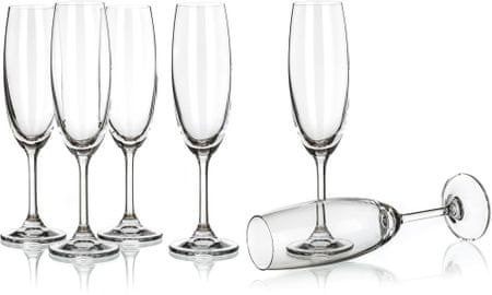 Banquet set kozarcev za šampanjec Leona, 210 ml, 6 kosov