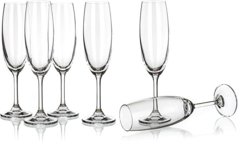 Banquet sklenice na sekt Leona 210 ml, 6 ks