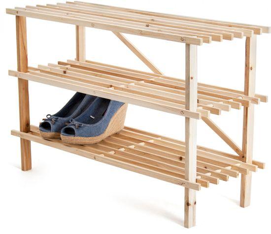 Banquet lesena polica za čevlje