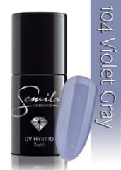 Semilac lakier hybrydowy 104 Violet Gray - 7 ml