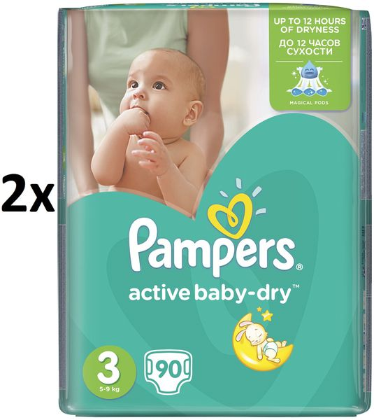Pampers Pleny Active Baby 3 Midi (4-9kg) Giant Pack - 180 ks