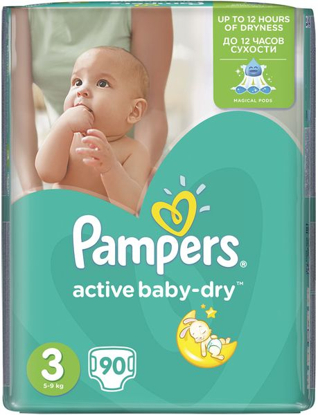 Pampers Pleny Active Baby 3 Midi (4-9kg) Giant Pack - 90 ks