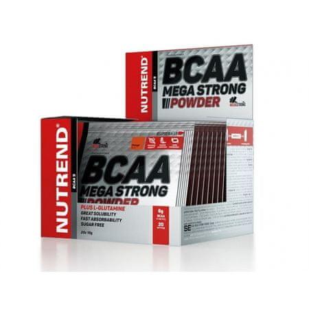 Nutrend Bcaa mega strong powder pomaranč aminokyseliny, 20x10 g