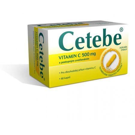 Cetebe cps (vitamín c 500 mg s postupným uvoľňovaním) 1x60 ks