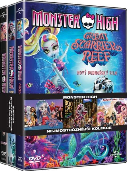Kolekce Monster High (3DVD): Kamera, lebka, jedem! + Velký modmořský svět + Boo York - DVD