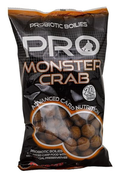 Starbaits Boilie Probiotic Monster Crab 1 kg, 14 mm