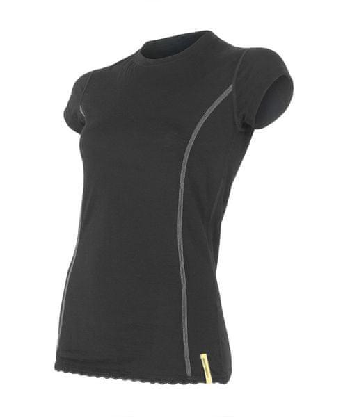 Sensor Merino Wool Active dámské triko krátký rukáv černá XL