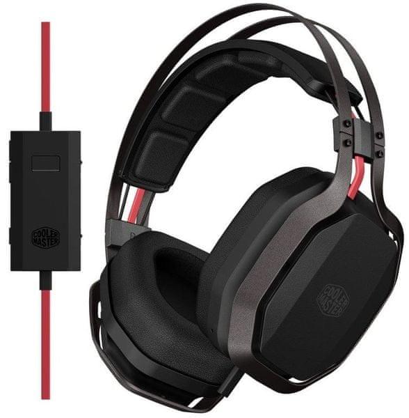 Cooler Master MASTERPULSE PRO 7.1 BASS FX herní sluchátka s mikrofonem, černá (SGH-8700-KK7D1)