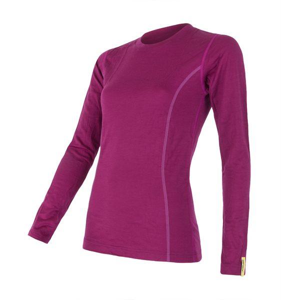 Sensor Merino Wool Active dámské triko dlouhý rukáv lila M