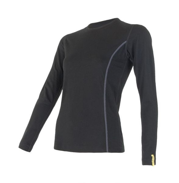 Sensor Merino Wool Active dámské triko dlouhý rukáv černá L