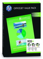 HP sady tří (CMY) barev č.935XL + 75 listů A4 (F6U78AE)