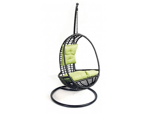 Závěsné relaxační křeslo GREY - černé