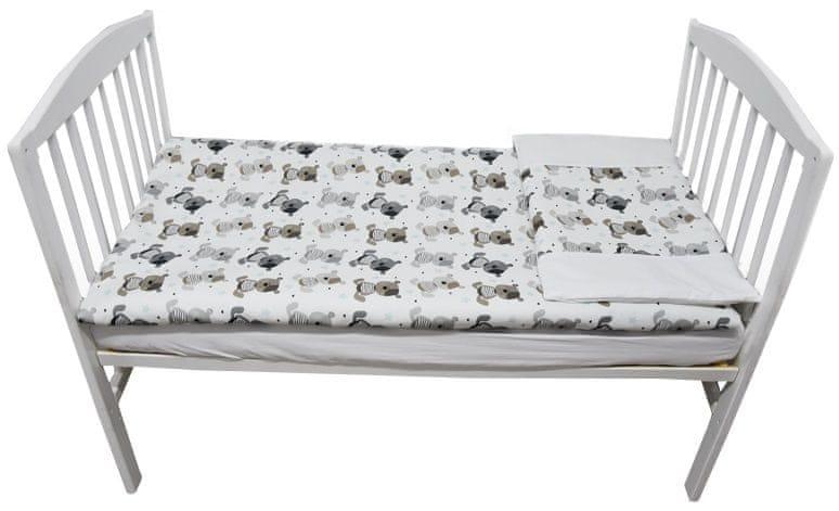 EKO Povlečení bavlněné tištěné - 2-dílná sada, Medvídek