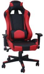 Vrtljiv pisarniški stol Racing Pro 8928, črno-rdeč