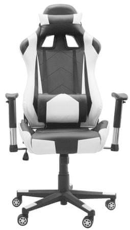 Vrtljiv pisarniški stol Racing Pro 8928, belo-črn