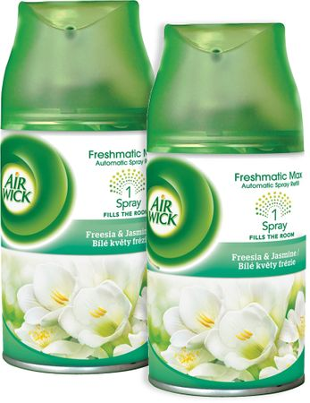 Air wick Freshmatic Max polnilo za osvežilec zraka, Freesia & Jasmine, 2x 250 ml