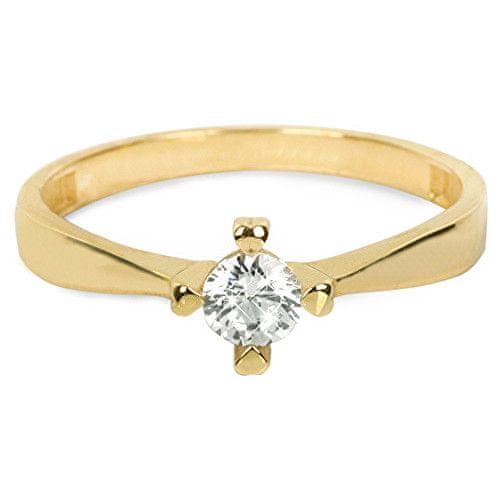 Brilio Zlatý zásnubní prsten 226 001 01016 55 mm