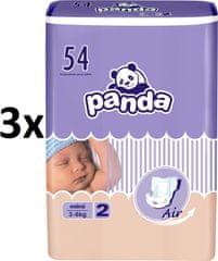 Panda Pieluchy Mini - 162szt (3x54)