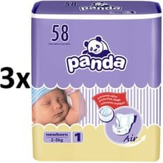 Panda New Born 3 x 58 ks