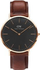 Daniel Wellington Classic Black St Mawes Rose Gold DW00100124