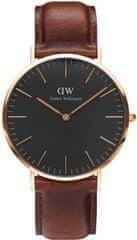 Daniel Wellington Classic Black St Mawes Rose Gold DW00100124