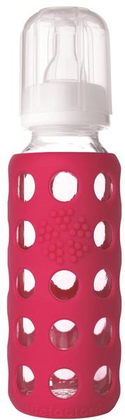 Lifefactory Kojenecká láhev 250 ml Raspberry