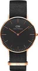 Daniel Wellington Classic Black Cornwall Rose Gold DW00100150