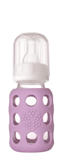 Lifefactory Kojenecká láhev 120 ml Lilac