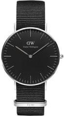 Daniel Wellington Classic Black Cornwall Silver DW00100151