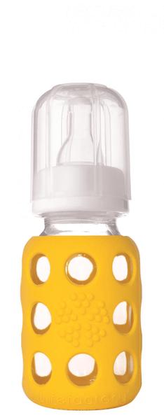 Lifefactory Kojenecká láhev 120 ml Yellow