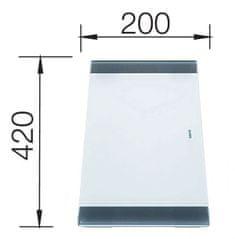 BLANCO deska do krojenia z mlecznego szkła (219644)