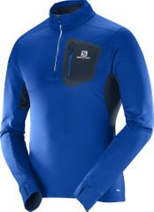Salomon športna majica Trail Runner Warm Mid M, modra