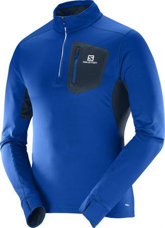 Salomon športna majica Trail Runner Warm Mid M, modra, M
