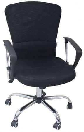 Pisarniški stol K-9005 PU, črno-črn